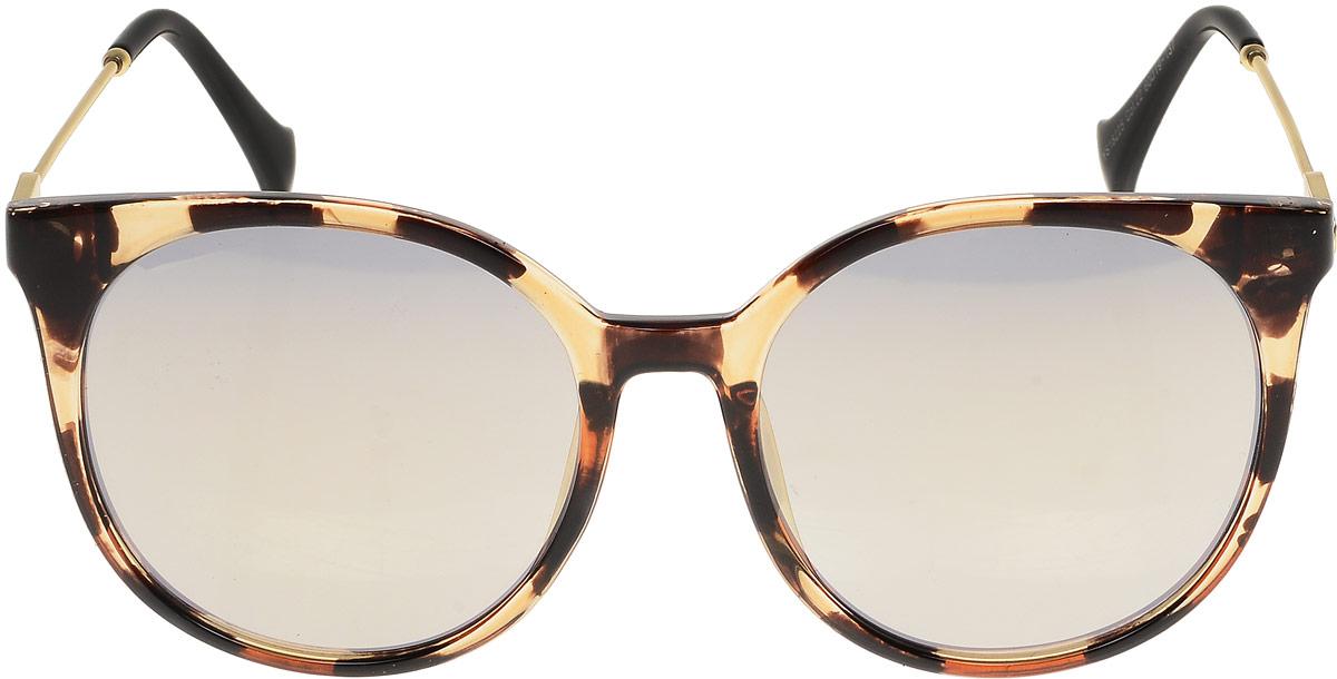 Очки солнцезащитные женские Модные истории, цвет: коричневый, золотой. 7/0023/243INT-06501Стильные солнцезащитные очки Модные истории сделают приятной прогулку в жаркий солнечный полдень. Высокоэффективный встроенный УФ фильтр обеспечивает совершенную защиту от вредных ультрафиолетовых лучей.