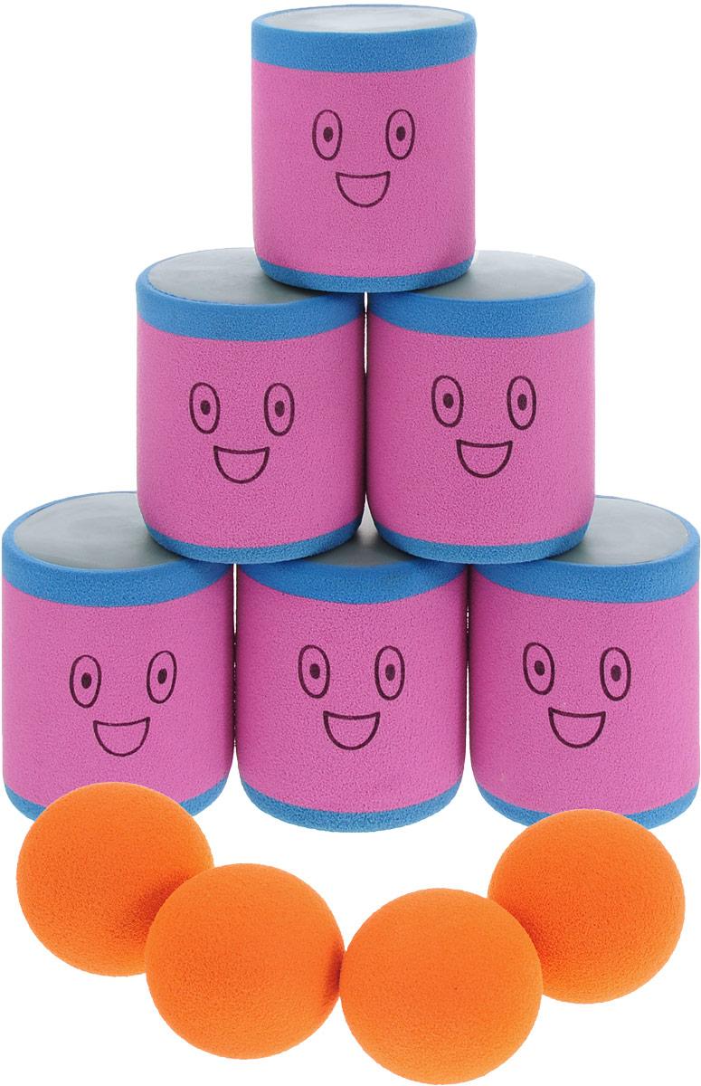 Safsof Игровой набор Городки цвет розовый голубой оранжевый