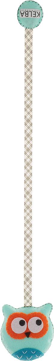 Закладка книжная  Бирюзовая совушка , 7 х 7 см. Ручная работа. Автор Леся Келба -  Закладки для книг