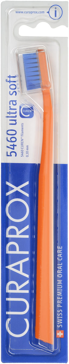 Curaprox CS 5460 Зубная щетка Ultrasoft, d 0,10 мм, цвет: оранжевыйCS5460_оранжевыйЩетка предназначена для ежедневного очищения зубов. Щетка содержит 5460 мягких активных щетинок (диаметр 0,10мм) и обеспечивает качественное и нетравматичное удаление зубного налета.