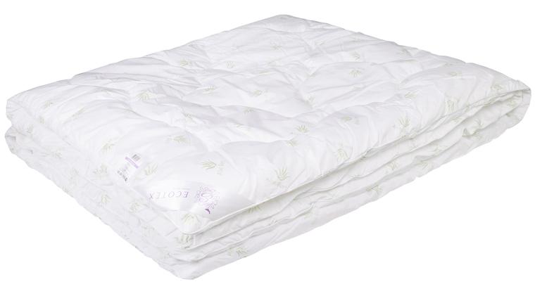 Одеяло Ecotex Алоэ вера, цвет: белый, 140 х 205 см10503- экологичность;- оптимальный микроклимат во время сна;- успокаивает кожу;- прекрасная циркуляция воздуха.