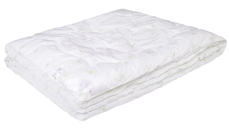 Одеяло Ecotex Алоэ вера, наполнитель: синтепух, цвет: белый, 200 х 220 смBH-UN0502( R)- экологичность;- оптимальный микроклимат во время сна;- успокаивает кожу;- прекрасная циркуляция воздуха.