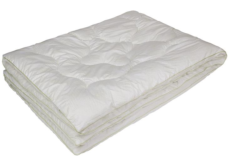 Одеяло Ecotex Бамбук-Комфорт, наполнитель: бамбуковое волокно, цвет: белый, 140 х 205 см531-105- антистатические свойства;- не вызывает раздражения;- регулирует влажность и теплообмен;- сохраняет свои первоначальные свойства и форму после многократной эксплуатации;- эффект кожи персика.