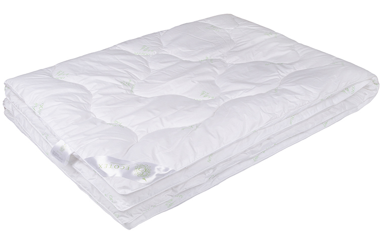 Одеяло Ecotex Бамбук-Премиум, наполнитель: бамбуковое волокно, цвет: белый, 140 х 205 смZ-0307- экологически чистый природный материал;- не вызывает раздражения;- ощущение свежести: регулирует влажность и теплообмен;- долговечность: сохраняет свои первоначальные свойства и форму после многократной эксплуатации.