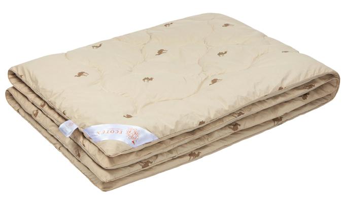 Одеяло Ecotex Караван, наполнитель: верблюжья шерсть, 140 х 205 смОВТ1Одеяло Ecotex Караван обеспечит комфортный и здоровый сон. Чехол одеяла выполнен из натуральной хлопковой ткани. В качестве наполнителя используется высококачественная верблюжья шерсть. Верблюжья шерсть высоко ценится за уникальные природно-целебные свойства. Благодаря высокому содержанию ланолина верблюжья шерсть благоприятно воздействует на кожу, мышцы и суставы. Кроме того, производит эффект антистресса - успокаивает и снимает усталость. Под ним вам будет комфортно спать в любое время года. Одеяло с таким наполнителем отличается экологичностью и антистатическими свойствами.