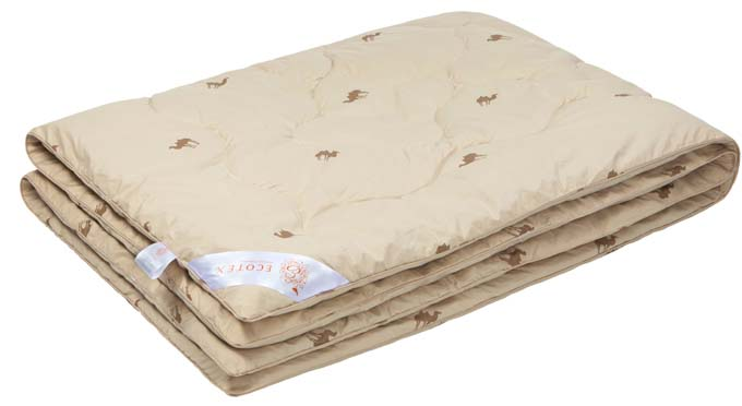 Одеяло Ecotex Караван, наполнитель: верблюжья шерсть, цвет: светло-бежевый, 200 х 220 см1.645-370.0- сухое тепло: комфортный температурный режим в любое время года;- целебные свойства;- высокое содержание ланолина, благоприятно воздействующего на кожу, мышцы и суставы;- антистресс: успокаивает, снимает усталость;- экологичность и антистатичность.