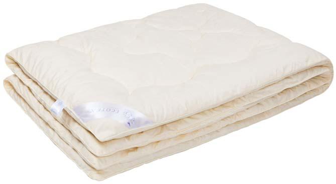 Одеяло Ecotex Премиум Кашемир, наполнитель: шерсть, цвет: светло-бежевый, 140 х 205 см96281375Одеяло Ecotex очень мягкое, уютно теплое и активно дышащее, обладает прекрасными функциональными свойствами. Благодаря уникальной комбинации теплозащитных и вентилирующих свойств одеяло создает идеальный микроклимат во время сна.Одеяло изготовлено из экологически чистого природного материала, исключительно легкое и шелковистое.Размер одеяла: 140 х 205 см.