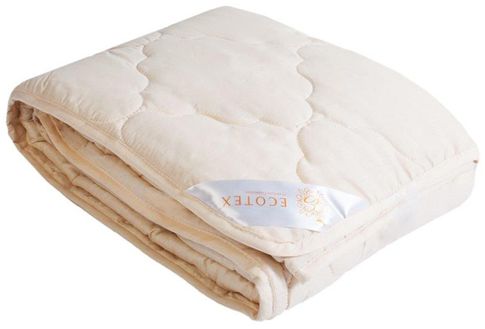 Одеяло Ecotex Золотое руно, облегченное, наполнитель: овечья шерсть, цвет: светло-бежевый, 140 х 205 смCLP446- комфорт: невероятная мягкость и эластичность;- оптимальный микроклимат во время сна: дарит сухое тепло, впитывая влагу и позволяя коже дышать;- экологичность и антистатичность.