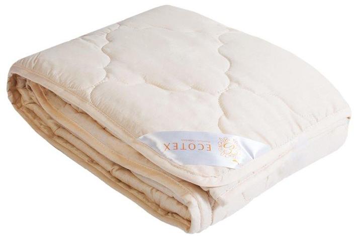 Одеяло Ecotex Золотое руно, облегченное, наполнитель: овечья шерсть, цвет: светло-бежевый, 172 х 205 см531-103- комфорт: невероятная мягкость и эластичность;- оптимальный микроклимат во время сна: дарит сухое тепло, впитывая влагу и позволяя коже дышать;- экологичность и антистатичность.