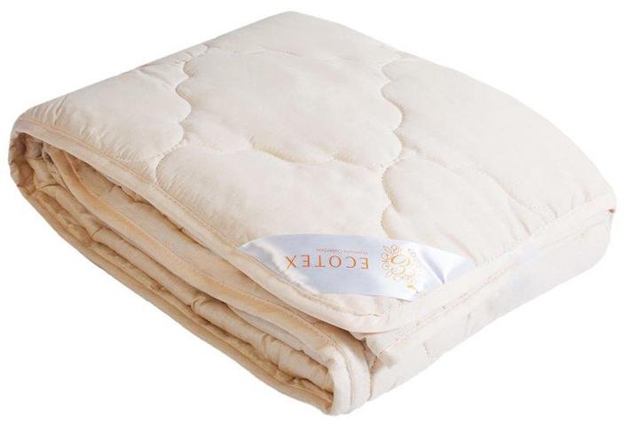 Одеяло Ecotex Золотое руно, облегченное, наполнитель: овечья шерсть, цвет: светло-бежевый, 200 х 220 см012H1800- комфорт: невероятная мягкость и эластичность;- оптимальный микроклимат во время сна: дарит сухое тепло, впитывая влагу и позволяя коже дышать;- экологичность и антистатичность.