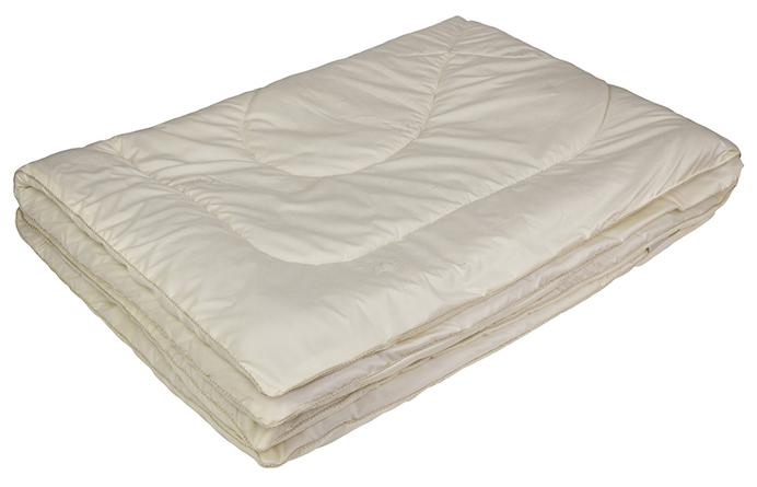 Одеяло Ecotex Овечка-Комфорт, облегченное, наполнитель: овечья шерсть, цвет: слоновая кость, 140 х 205 смKL-01- сухое и здоровое тепло: создает комфортный микроклимат во время сна в любое время года;- долговечность и экологичность;- комфорт: антистатичность, мягкость, легкость и объем.