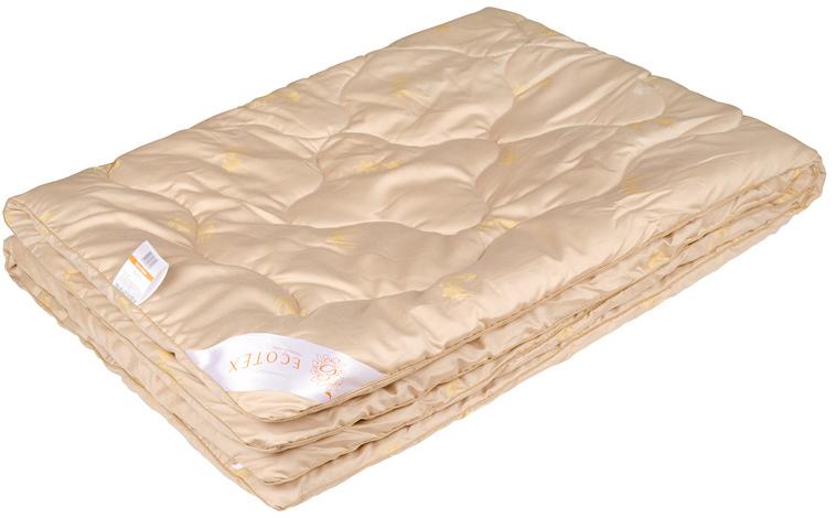 Одеяло Ecotex Сафари, наполнитель: верблюжья шерсть, цвет: светло-бежевый, 140 х 205 смCLP446- сухое тепло;- благоприятное воздействие на кожу;- высокое содержание ланолина;- антистресс;- экологичность;- антистатичность.
