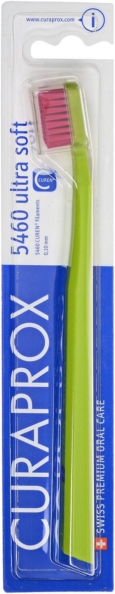 Curaprox CS 5460 Зубная щетка Ultrasoft, d 0,10 мм, цвет: салатовый5010777139655Щетка предназначена для ежедневного очищения зубов. Щетка содержит 5460 мягких активных щетинок (диаметр 0,10мм) и обеспечивает качественное и нетравматичное удаление зубного налета.