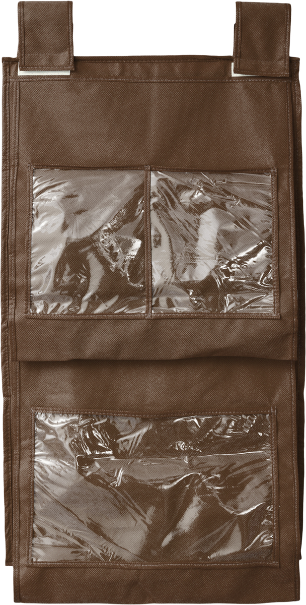 Кофр для сумок и аксессуаров Все на местах Minimalistic, цвет: темно-коричневый, 8 секций, 40 х 70 смS03301004Кофр для сумок и аксессуаров Все на местах Minimalistic выполнен из спанбонда и ПВХ. Модель крепится на штангу в шкафу или вешалку-плечики. Выделено 8 секций для хранения сумок, клатчей, театральных сумок, кошельков, зонтов, перчаток, палантинов, шарфов, шалей и т.д. Кофр решает проблему компактного хранения сумок и экономит место в шкафу.Размеры: 40 х 70 см.