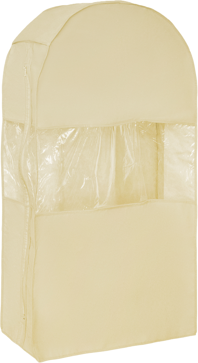 Чехол для одежды Все на местах Minimalistic, двойной, цвет: бежевый, 100 х 60 х 20 см1011034.Двойной чехол для одежды Все на местах Minimalistic выполнен из дышащего нетканого материала, который пропускает воздух, но не пропускает пыль, защищает вещи от выцветания и насекомых. Прозрачное окошко значительно облегчает поиск необходимой вещи в гардеробе.Вам даже не придется снимать чехол с вешалки, достаточно расстегнуть молнию в боковом шве, аккуратно извлечь нужную вещь, и застегнуть чехол.Материал: спанбонд, ПВХ.Размеры: 100 х 60 х 20 см.