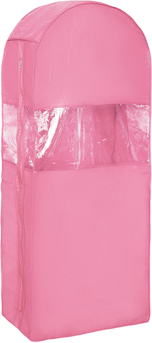 Чехол для одежды Все на местах Minimalistic, двойной, цвет: розовый, 130 х 60 х 20 см1004900000360Двойной чехол для одежды Все на местах Minimalistic выполнен из дышащего нетканого материала, который пропускает воздух, но не пропускает пыль, защищает вещи от выцветания и насекомых. Этот удобный и вместительный кофр поместятся целых шесть длинных платьев или четыре плаща. Прозрачное окошко значительно облегчает поиск необходимой вещи в гардеробе.Вам даже не придется сниматьчехол с вешалки, достаточно расстегнуть молнию в боковом шве, аккуратно извлечь нужную вещь, и застегнуть чехол.Материал: спанбонд, ПВХ.Размеры: 130 х 60 х 20 см.