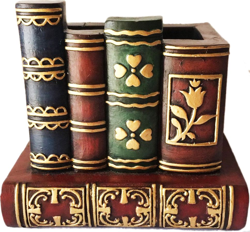 Подставка декоративная Magic Home Библиотека, для канцелярских принадлежностей, 11 х 10,5 х 14,5 см44357Декоративная подставкаMagic Home Библиотека, изготовленная из высококачественной полирезины в виде нескольких книг, сохранит ваши канцелярские принадлежности, и они всегда будут под рукой. Благодаря эксклюзивному дизайну, подставка оригинально оформит ваш рабочий стол, а также станет практичным сувениром для друзей и коллег.
