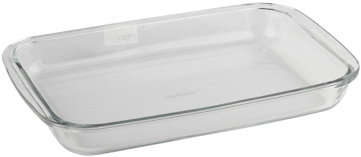 Форма для запекания Marinex, прямоугольная. MC16536968/5/4Форма для запекания Marinex изготовлена из жаропрочного стекла. Форма предназначена для приготовления горячих блюд. Изделие дополнено двумя ручками. Материал изделия гигиеничен, прост в уходе и обладает высокой степенью прочности. Форма идеально подходит для использования в духовках, микроволновых печах. Можно мыть в посудомоечной машине.