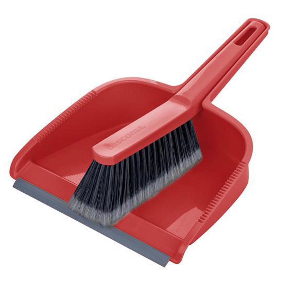 Набор для уборки Tescoma Clean Kit, цвет: красный, 2 предмета.19201Набор для уборки Tescoma Clean Kit состоит из совка и щетки, изготовленных извысококачественного пластика. Вместительный совок удерживаетсобранный мусор, позволяет эффективно и быстро совершать уборку в любомпомещении. Прорезиненный край совка обеспечивает наиболее плотное прилегание к полу. Щетка имеет удобную форму, позволяющую вымести мусор даже из труднодоступных мест. Совок и щетка оснащены ручками с отверстиямидля подвешивания. С набором Tescoma Clean Kit уборка станет легче и приятнее.Общая длина щетки: 25 см.Размер рабочей части щетки: 12,5 см х 4,5 см х 5,5 см.Общая длина совка: 29,5 см.Размер рабочей части совка: 21,5 см х 17,5 см х 6 см.