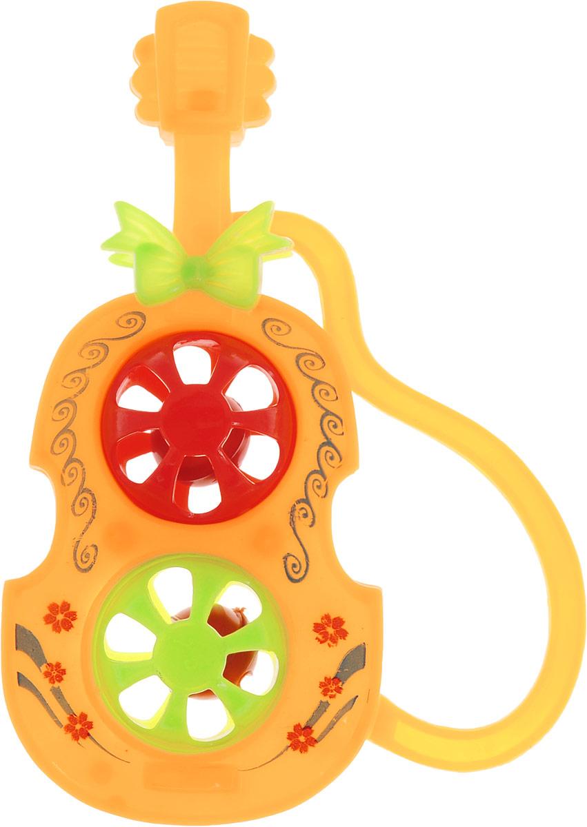 1TOY Погремушка Гитара цвет оранжевый