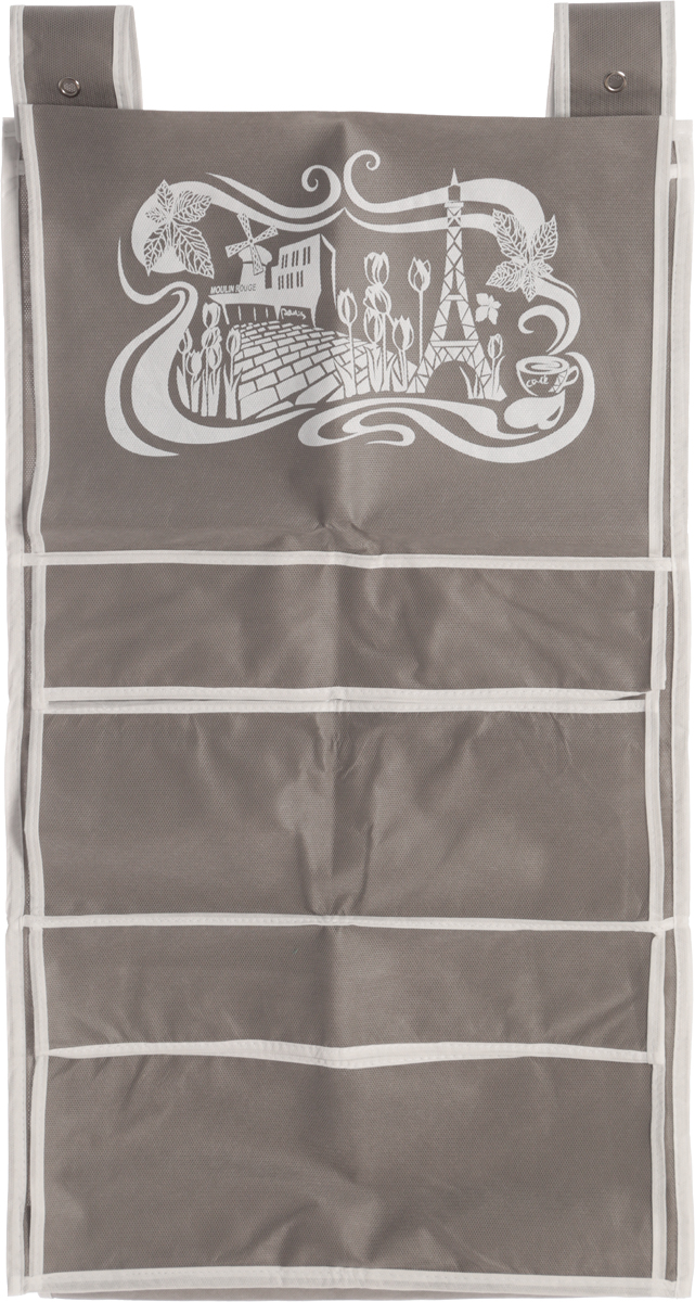 Кофр для сумок и аксессуаров Все на местах Париж, цвет: серый, белый, 8 секций, 40 х 70 смPR-2WКофр для сумок и аксессуаров Все на местах Париж выполнен из спанбонда и ПВХ. Модель крепится на штангу в шкафу или вешалку-плечики. Выделено 8 секций для хранения сумок, клатчей, театральных сумок, кошельков, зонтов, перчаток, палантинов, шарфов, шалей и т.д. Кофр решает проблему компактного хранения сумок и экономит место в шкафу.Размеры: 40 х 70 см.