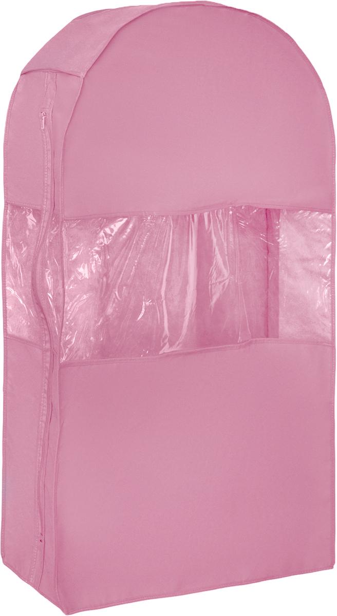 Чехол для шуб Все на местах Minimalistic. Lux, цвет: розовый, 100 х 18 х 58 см1014033.Чехол Все на местах Minimalistic. Lux изготовлен из сочетания спанбонда и ПВХ. Изделие предназначено для хранения шуб. Нетканый материал чехла пропускает воздух, что позволяет изделиям дышать. Благодаря пластиковым вставкам, чехол идеально держит форму и его стенки не соприкасаются с мехом изделия и не приминают его. С таким чехлом шуба надежно защищена от моли, пыли и механического воздействия. Застегивается на застежку-молнию.Материал: спанбонд, ПВХ.Размеры: 100 см х 18 см х 58 см.
