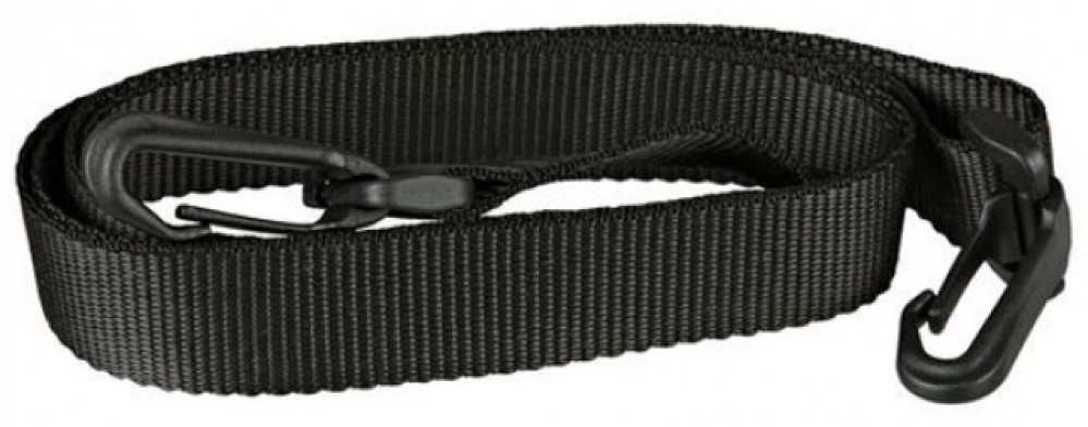 Ремень для переносок Marchioro Baltic, цвет: черный, 110 см1064008000905Ремень Marchioro Baltic предназначен для переносок Clipper (клипперов). Идеален для размеров переносок №1-3. Ремень изготовлен из нейлона черного цвета и оснащен пластиковыми замками-карабинами. Пластиковый бегунок регулирует длину ремня. Длина ремня: 110 см.Ширина ремня: 2,5 см.