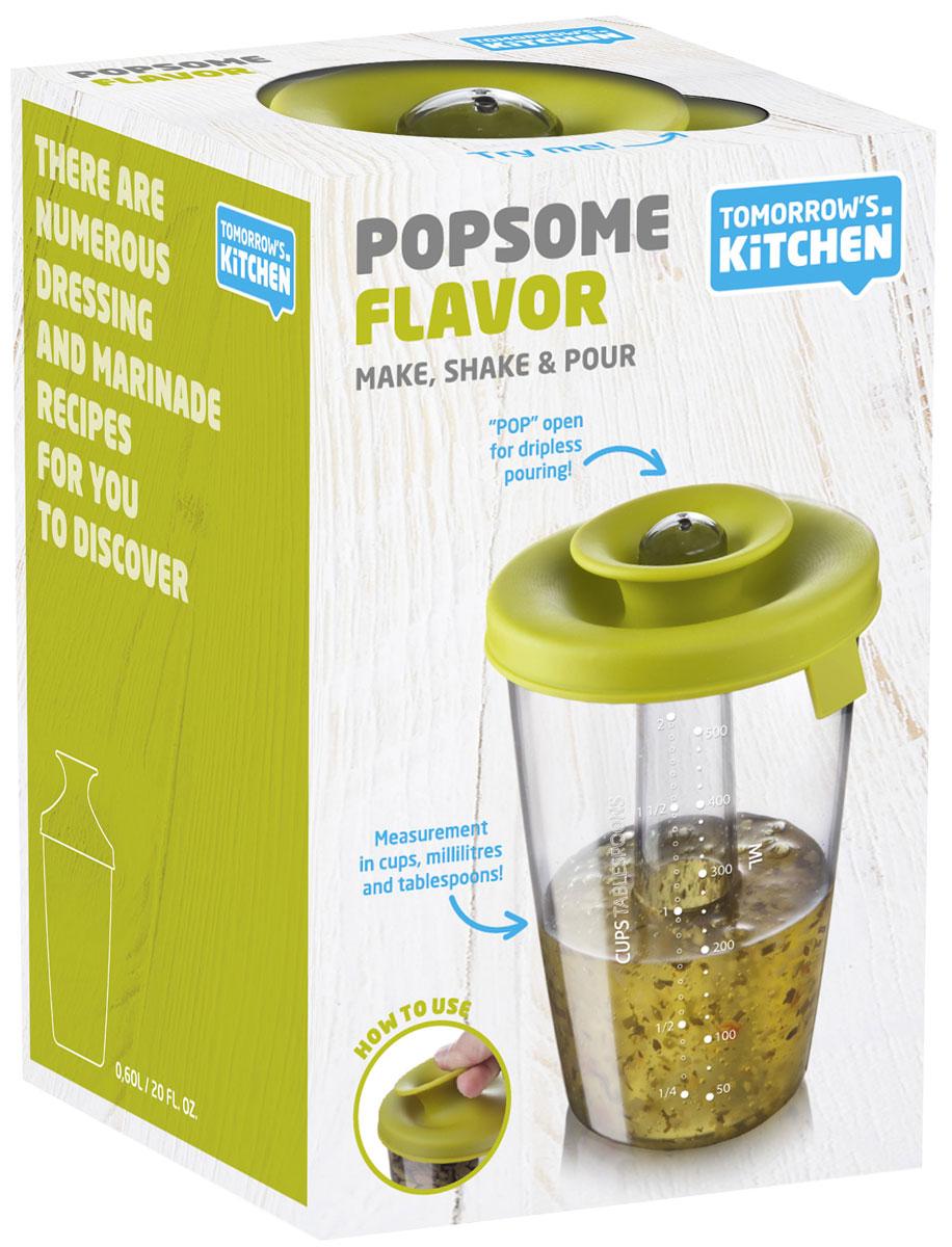 Емкость-шейкер для приготовления соусов и маринадов Tomorrows Kitchen PopSomeVT-1520(SR)Шейкер серии PopSome изготовлен из высококачественного пластика. Он идеально подходит для приготовления соусов и маринадов. Для этого у него есть разметка (чашка, мл, столовая ложка) и герметичная крышка. Характеристики:Материал:пластик, резина. Размер емкости:16 см x 11 см х 11 см. Размер упаковки:16 см x 11,5 см x 11 см.