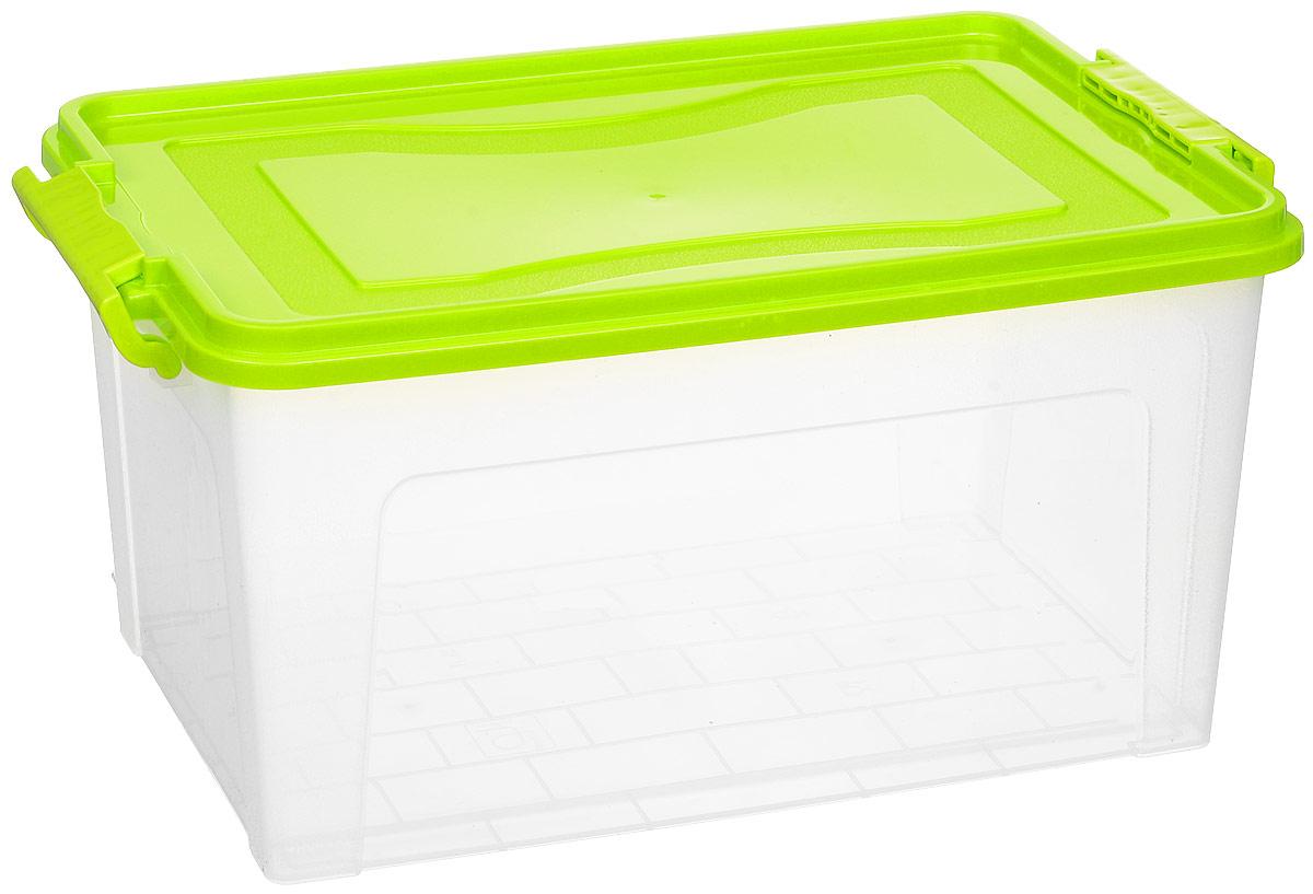 Контейнер для хранения Idea, прямоугольный, цвет: прозрачный, салатовый, 25 лМ 2867Контейнер Idea выполнен из полипропилена, предназначен для хранения игрушек, инструментов, швейных принадлежностей, бумаг и многого другого.Контейнер снабжен эргономичной плотно закрывающейся крышкой со специальными боковыми фиксаторами.