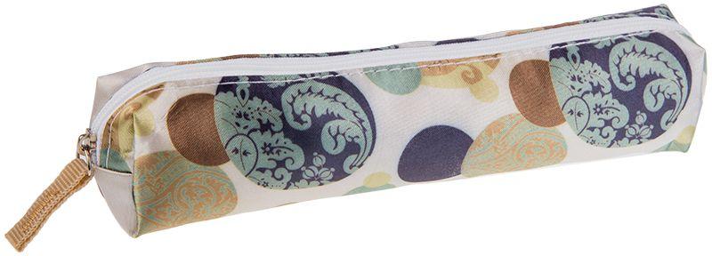 ArtSpace Пенал-косметичка Узоры цвет бежевый72523WDУдобный школьный пенал для хранения письменных и чертежных принадлежностей. Имеет одно отделение на молнии