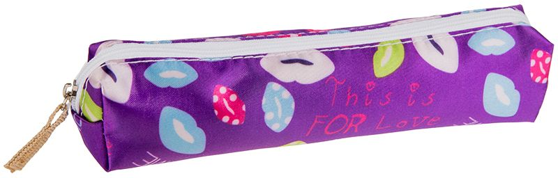ArtSpace Пенал-косметичка Kiss цвет фиолетовый