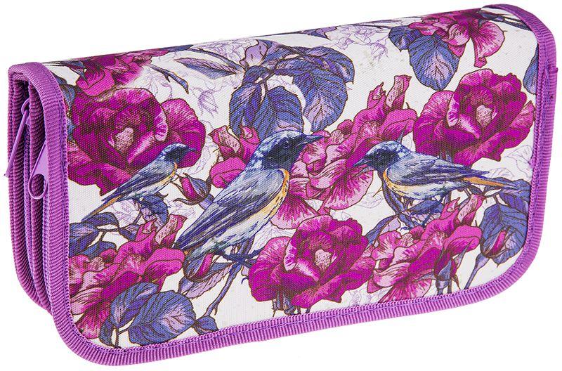 ArtSpace Пенал Цветы цвет розовый ПК11-20_ПО-49_1008072523WDПеналы для школьных канцелярских принадлежностей. Имеют два отделения. Поставляются без наполнения. Размер 190 х 105 мм. Материал - ткань. Застежка-молния.