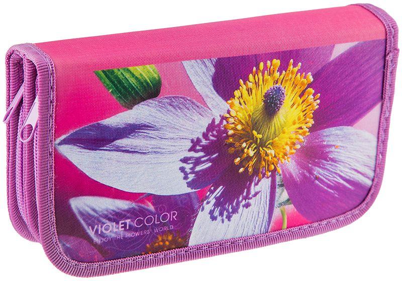 ArtSpace Пенал Цветы цвет розовый ПК11-20_ПО-49_1008772523WDПеналы для школьных канцелярских принадлежностей. Имеют два отделения. Поставляются без наполнения. Размер 190 х 105 мм. Материал - ткань. Застежка-молния.
