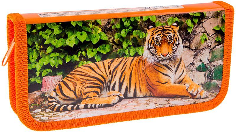 ArtSpace Пенал Дикие кошки цвет оранжевый 30П18_ПК2_1061072523WDПенал 1 отделение, на молнии. Удобный пенал для школьных канцелярских принадлежностей. Пенал имеет одно отделение и надежную застежку - молнию.