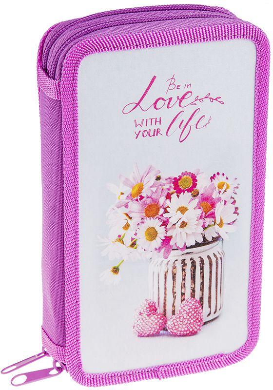 ArtSpace Пенал Цветы цвет розовый 30П25/2_ПК11_1063372523WDУдобный пенал для школьных принадлежностей на молнии, имеет 2 отделения, материал — пластик, картон