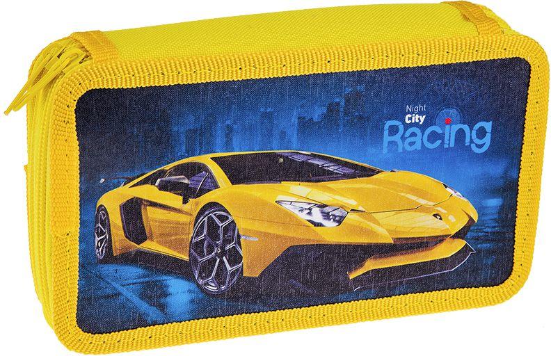 ArtSpace Пенал Авто Supercar цвет желтый72523WDУдобный пенал для школьных принадлежностей на молнии, имеет 2 отделения, материал — пластик, картон