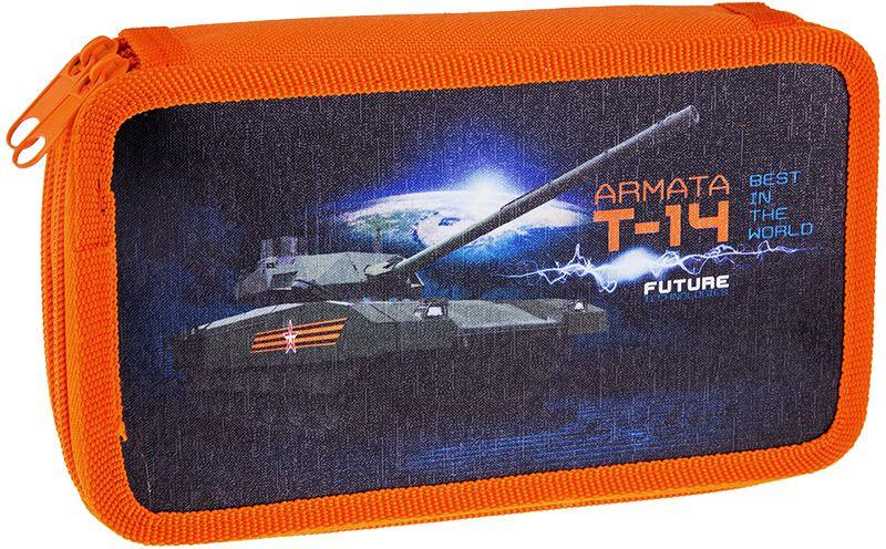 ArtSpace Пенал Военная техника цвет оранжевый 30П25/2_ПК11_106402010440Удобный пенал для школьных принадлежностей на молнии, имеет 2 отделения, материал — пластик, картон