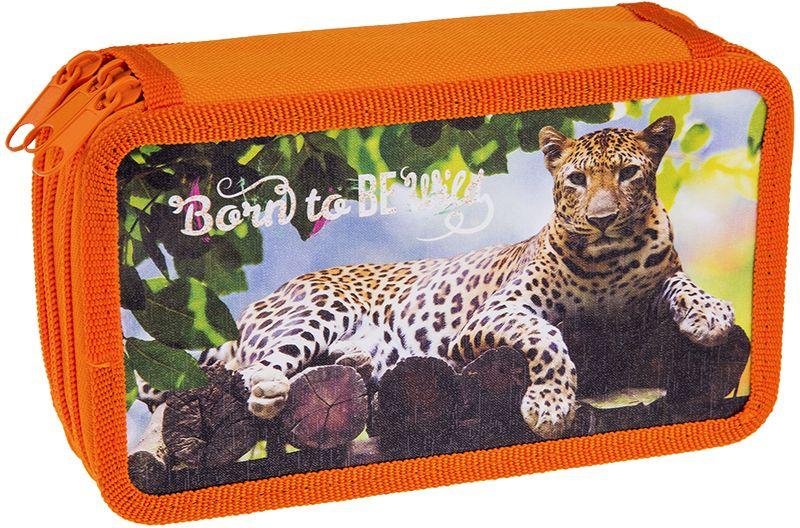 ArtSpace Пенал Дикие кошки цвет оранжевый 30П25/3_ПК12_1064172523WDУдобный пенал для школьных канцелярских принадлежностей. Пенал имеет три отделения и надежную застежку - молнию