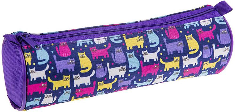 ArtSpace Пенал-тубус Котята цвет фиолетовый72523WDМягкий пенал-тубус для школьных канцелярских принадлежностей. Размер - 210х70 мм. Материал - полиэстер 600 Den, застежка-молния.