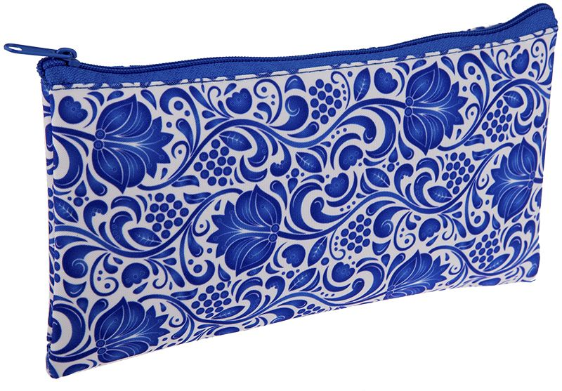 ArtSpace Пенал-косметичка Узоры цвет синий72523WDМягкий пенал-косметичка на молнии, выполнен из полиэстера. Размер - 205х110 мм