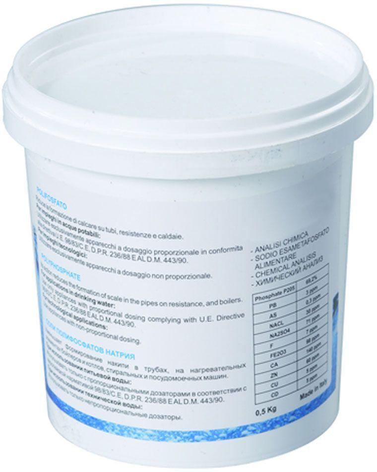 Соль полифосфатная Unicorn CP 05, 500 гИС.230069Соль полифосфатная Unicorn CP 05 предназначена для предотвращения образовании накипи. Используется в фильтрах для стиральных и посудомоечных машин, предотвращает образование накипи в водопроводных трубах, котлах и бойлерах.