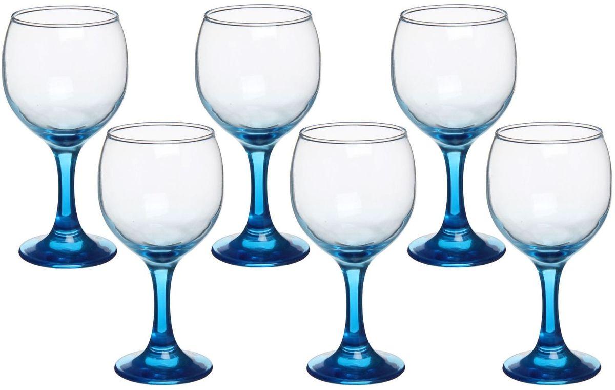 Набор бокалов Хрустальный звон, цвет: синий, 200 мл, 6 штVT-1520(SR)Набор бокалов Хрустальный звон необходим для любой хозяйки, сочетает в себе отличное качество и дизайн. Бокалы выполнены из высококачественного стекла. Такой набор украсит любой кухонный интерьер и станет хорошим подарком для ваших близких.