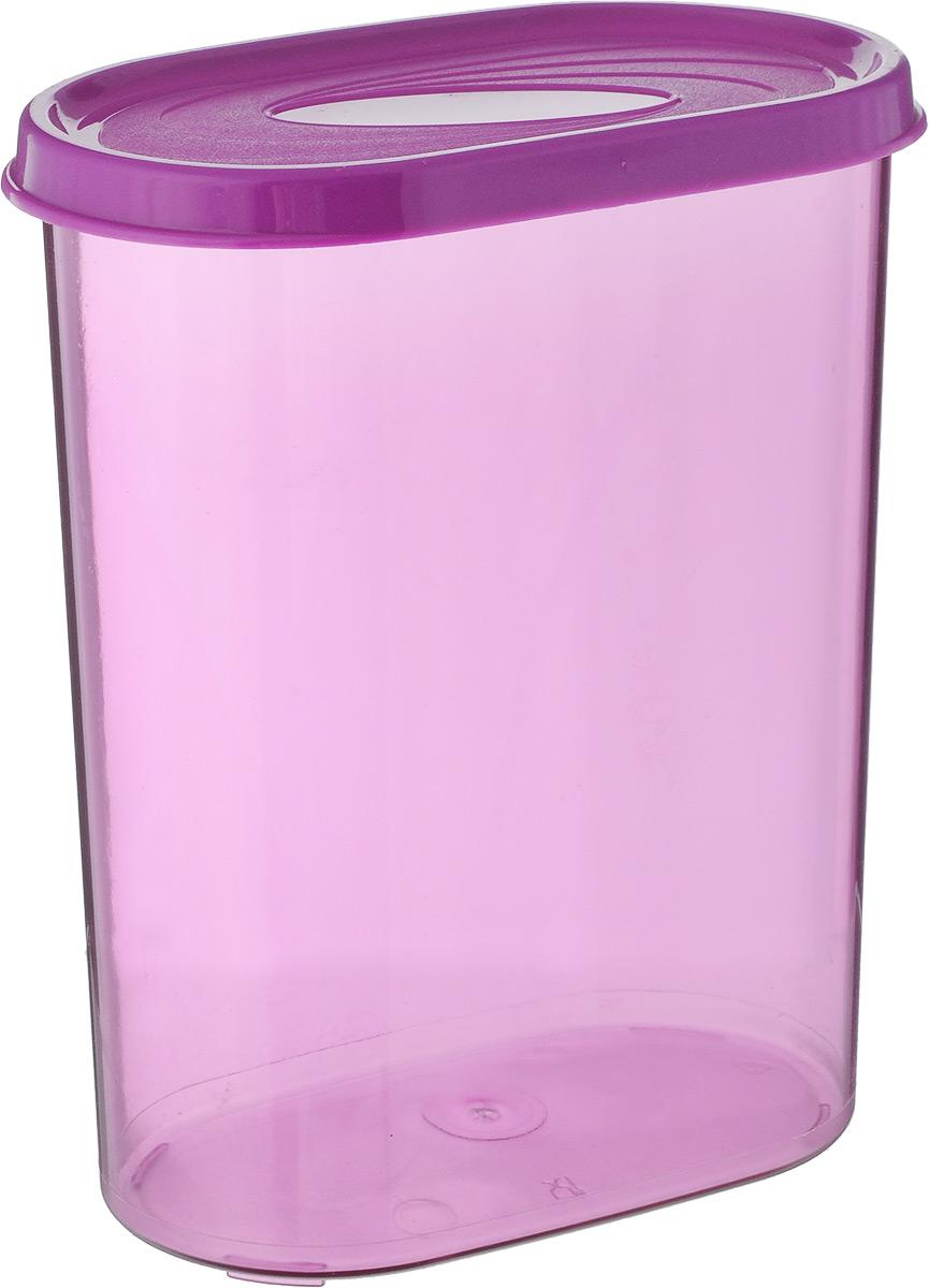 Банка для сыпучих продуктов Giaretti, цвет: сиреневый, 1,6 л626-064Банка для сыпучих продуктов Giaretti выполнена из высококачественного пластика. Банка предназначена для хранения круп, сахара, макаронных изделий и в том числе для продуктов с ярким ароматом (специи и прочее). Плотно прилегающая крышка не пропускает запахи содержимого в шкаф для хранения, при этом продукт не теряет своего аромата. Банки легко устанавливаются одна на другую. Можно мыть в посудомоечной машине. Объем: 1,6 л. Размер (по верхнему краю): 14,5 x 8,5 см.Высота (с учетом крышки): 18,5 см.