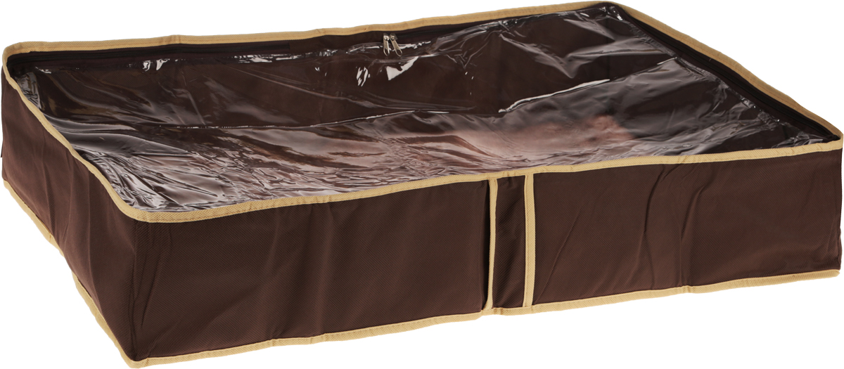 Чехол для одеял Все на местах Париж, цвет: темно-коричневый, бежевый, 80 х 45 х 15 смБрелок для ключейЧехол для одеял Minimalistic выполнен из сочетания ПВХ и спанбонда. Модель имеет две удобные вертикальные ручки. В стенки чехла вставлен уплотнитель, что позволяет ему держать форму. Подходит для хранения одеял, пледов, подушек и т.д.Материал: спанбонд, ПВХ.Размер: 80 х 45 х 15 см.