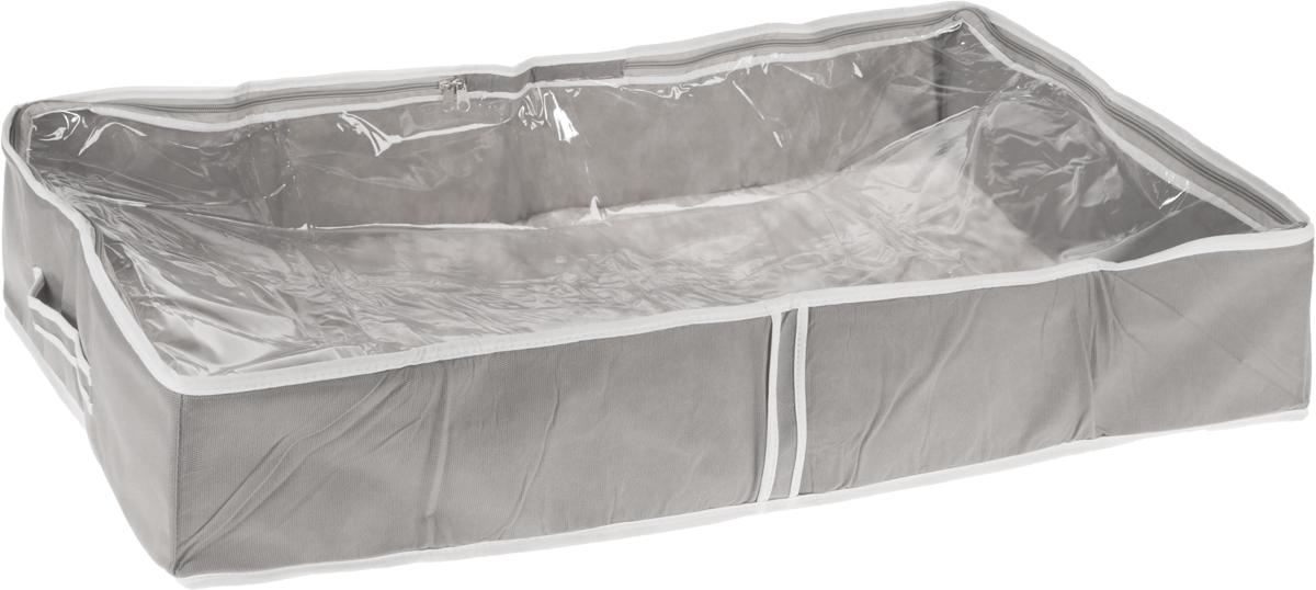 Чехол для одеял Все на местах Париж, цвет: серый, белый, 80 х 45 х 15 смV4140/1SЧехол для одеял Все на местах Париж выполнен из сочетания ПВХ и спанбонда. Модель имеет две удобные вертикальные ручки. В стенки чехла вставлен уплотнитель, что позволяет ему держать форму. Подходит для хранения одеял, пледов, подушек и т.д.Материал: спанбонд, ПВХ.Размер: 80 х 45 х 15 см.