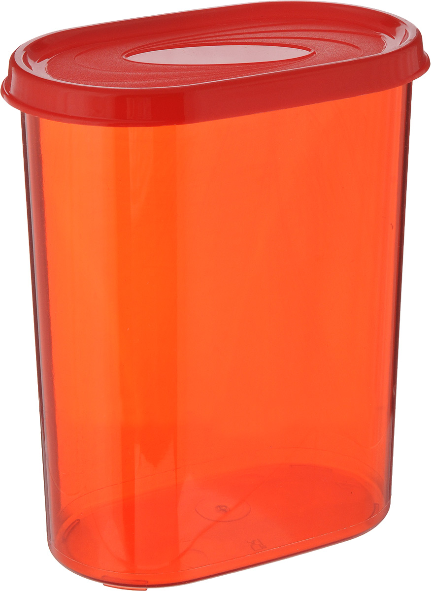 Банка для сыпучих продуктов Giaretti, цвет: красный, 1,6 лVT-1520(SR)Банка для сыпучих продуктов Giaretti выполнена из высококачественного пластика. Банка предназначена для хранения круп, сахара, макаронных изделий и в том числе для продуктов с ярким ароматом (специи и прочее). Плотно прилегающая крышка не пропускает запахи содержимого в шкаф для хранения, при этом продукт не теряет своего аромата. Банки легко устанавливаются одна на другую. Можно мыть в посудомоечной машине. Объем: 1,6 л. Размер (по верхнему краю): 14,5 x 8,5 см.Высота (с учетом крышки): 18,5 см.