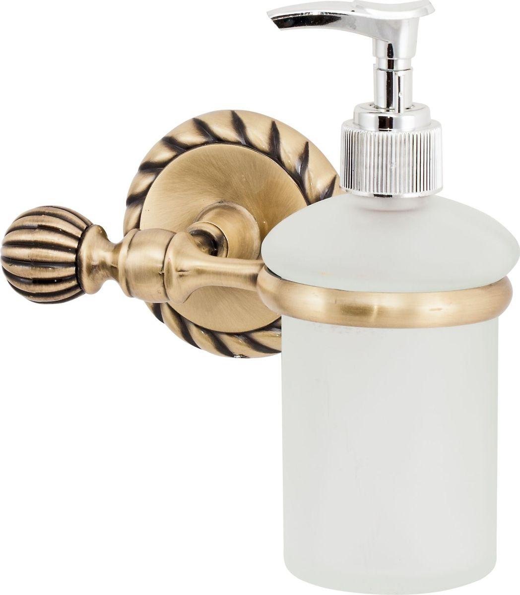 Дозатор для жидкого мыла Del Mare 11800, цвет: античная бронзаRG-D31SДозатор для жидкого мыла Del Mare 11800 удобен для применения в ванных комнатах, уборных и на кухнях. Изделие оснащено крышкой с кнопкой, обеспечивающей дозированную выдачу мыла.