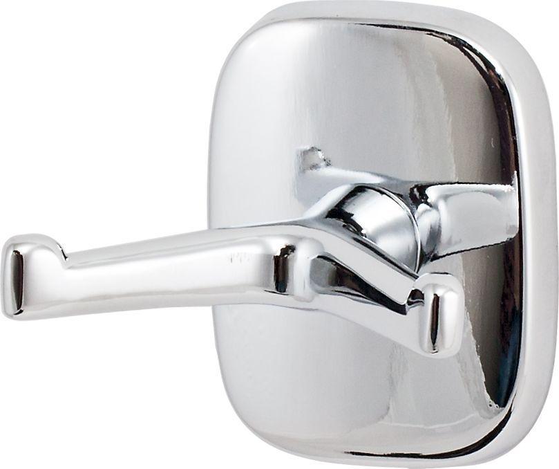 Крючок для ванной Del Mare 1500, двойной, цвет: хромБ146.Крючок двойной Del Mare 1500 — это оригинальный и функциональный аксессуар. Крючок можно использовать в помещениях с высокой влажностью. Навесные крючки — это практичное решение для размещения аксессуаров, полотенец или банных принадлежностей, позволяющее сэкономить пространство и организовать порядок в ванной комнате.