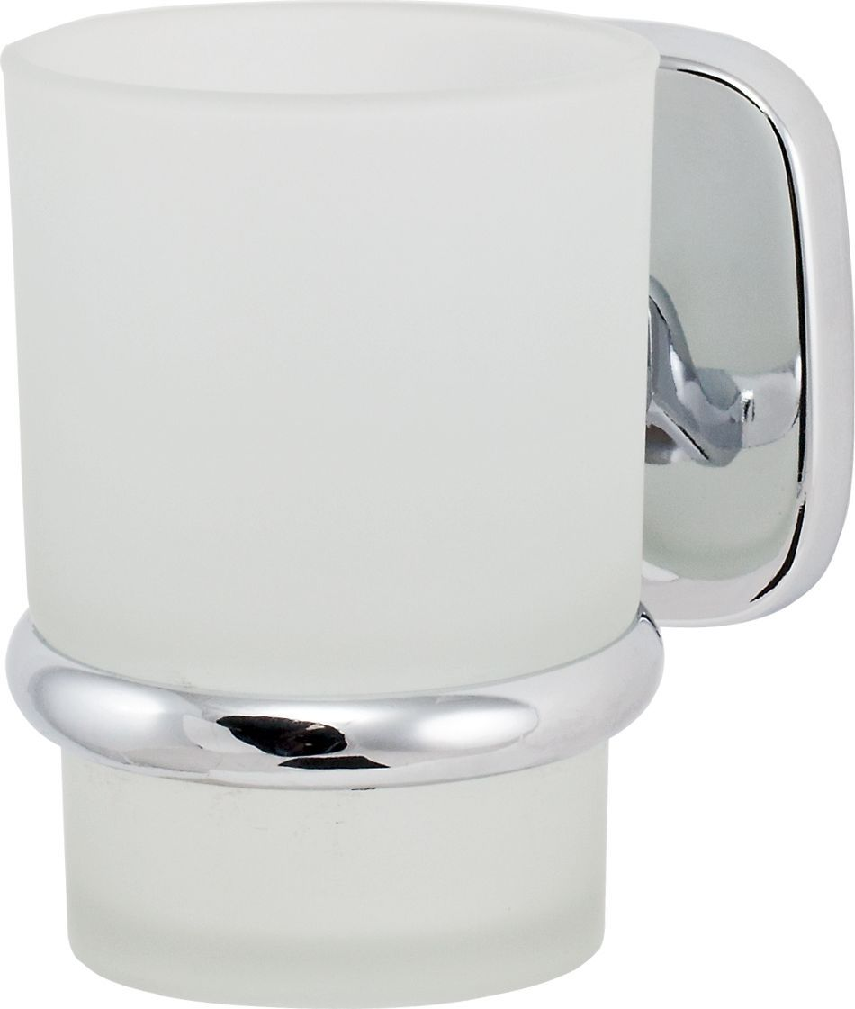 Держатель стакана Del Mare 1500, цвет: хром1503Держатель для зубных щеток и паст Del Mare 1500 - это настенный стаканчик из матового стекла, укрепленный на металлическом каркасе. Крепление поставляется в комплекте. Стеклянный подвесной стакан с возможностью размещения зубных щеток и пасты позволит организовать порядок в ванной комнате.