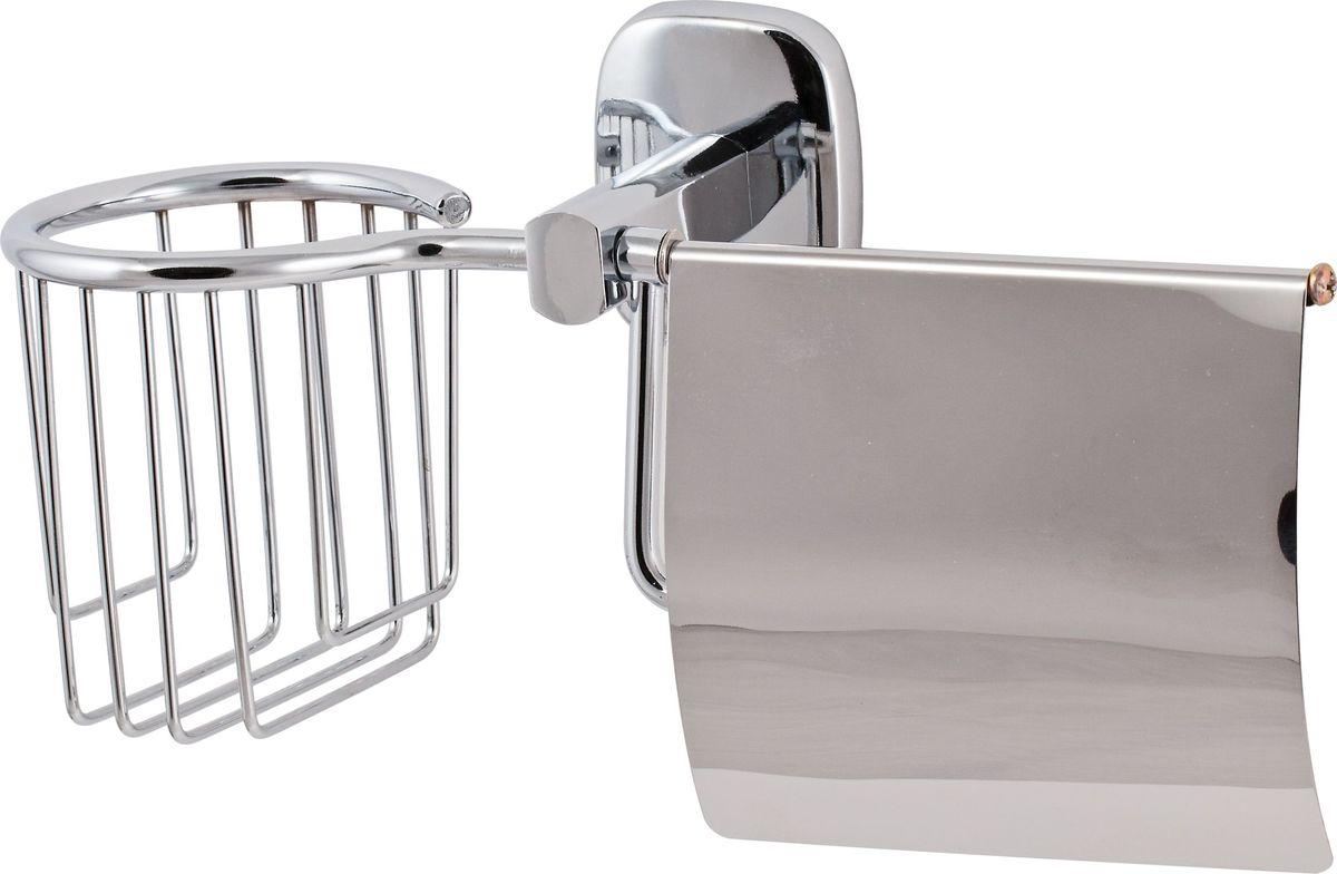 Держатель туалетной бумаги Del Mare 1500, с крышкой, цвет: хром137Держатель закрытого типа Del Mare 1500 – удобный и практичный аксессуар для размещения туалетной бумаги, обеспечивающий хранение средств личной гигиены в необходимом месте.